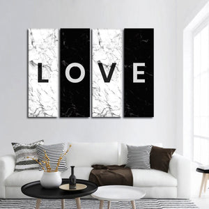 LOVE Multi Panel Canvas Wall Art - Relationship