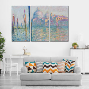 Le Grand Canal Multi Panel Canvas Wall Art - Classic_art