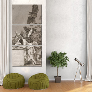 The Sleep Of Reason Multi Panel Canvas Wall Art - Classic_art