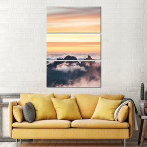 Colors Of The Sky Multi Panel Canvas Wall Art - Sky