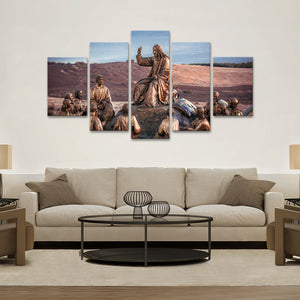 Jesus and His Followers Multi Panel Canvas Wall Art - Religion