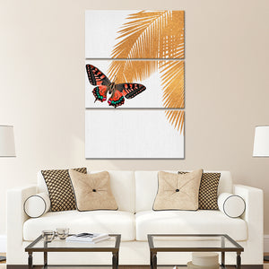 Butterfly Palm Multi Panel Canvas Wall Art - Botanical