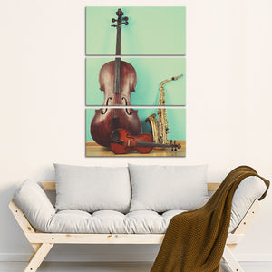 Concert Time Multi Panel Canvas Wall Art - Music