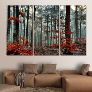 Silent Forest Multi Panel Canvas Wall Art - Nature