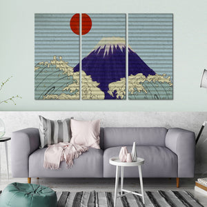 Great Wave Graffiti Multi Panel Canvas Wall Art - Graffiti