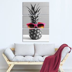 Hip Pineapple Pop Multi Panel Canvas Wall Art - Pineapple