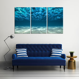 Underwater Multi Panel Canvas Wall Art - Beach