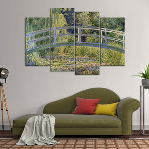 The Japanese Footbridge Multi Panel Canvas Wall Art - Classic_art