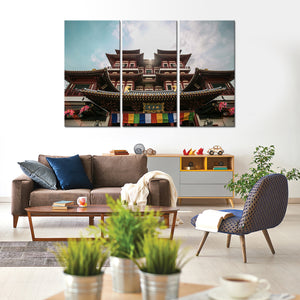 Buddha Tooth Relic Temple Multi Panel Canvas Wall Art - Buddhism