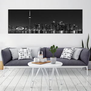 Toronto Lights Multi Panel Canvas Wall Art - City