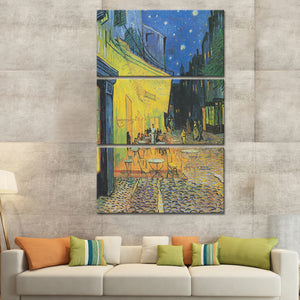 Cafe Terrace at Night Multi Panel Canvas Wall Art - Classic_art