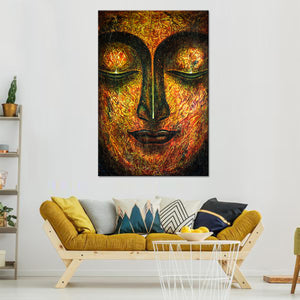 Meditative State Multi Panel Canvas Wall Art - Buddhism