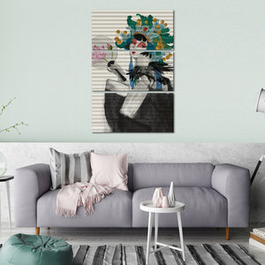 Japanese Garage Graffiti Multi Panel Canvas Wall Art - Graffiti