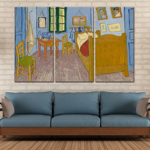 Bedroom In Arles Multi Panel Canvas Wall Art - Classic_art
