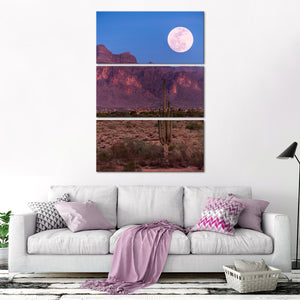 New Mexico Dusk View Multi Panel Canvas Wall Art - Cowboy