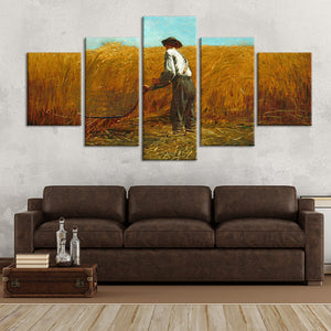 The Veteran In A New Field Multi Panel Canvas Wall Art - Classic_art