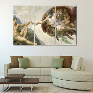 The Creation Of Adam Multi Panel Canvas Wall Art - Classic_art