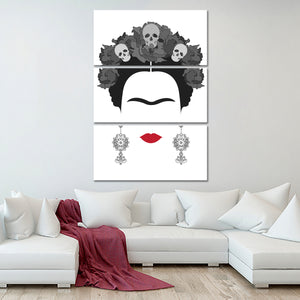 Minimal Frida Multi Panel Canvas Wall Art - Latin