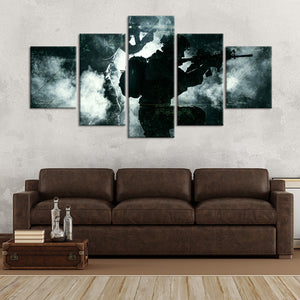 Freedom Isn't Free Multi Panel Canvas Wall Art - Army
