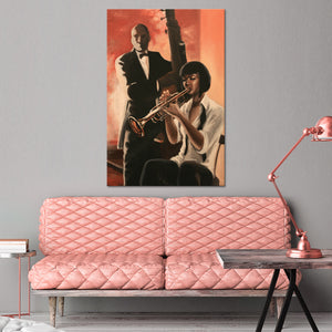 Jazz Duet Multi Panel Canvas Wall Art - Jazz