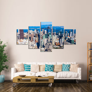 Downtown San Francisco Multi Panel Canvas Wall Art - City
