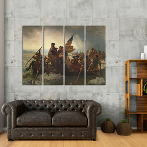 Washington Crossing the Delaware Multi Panel Canvas Wall Art - Classic_art