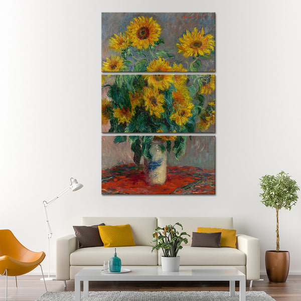 Bouquet of Sunflowers Multi Panel Canvas Wall Art