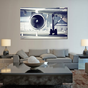 Airplane Turbine Multi Panel Canvas Wall Art - Airplane