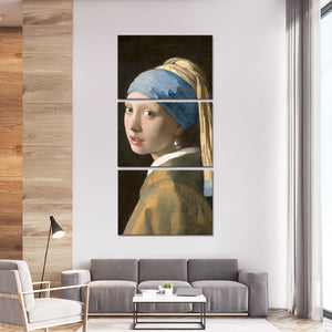 Girl With a Pearl Earring Multi Panel Canvas Wall Art - Classic_art