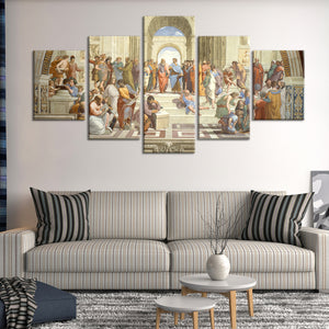 The School of Athens Multi Panel Canvas Wall Art - Classic_art