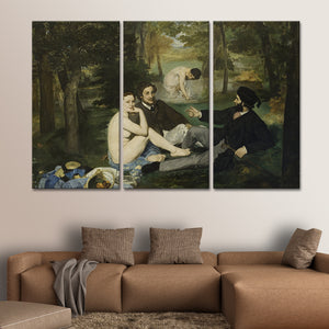 Luncheon on the Grass Multi Panel Canvas Wall Art - Classic_art