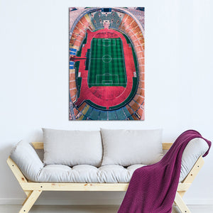 Soccer Stadium Gorgeous View Multi Panel Canvas Wall Art - Soccer
