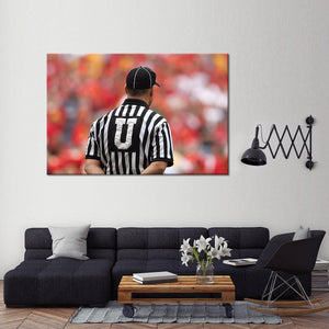 Football Umpire Multi Panel Canvas Wall Art - Football