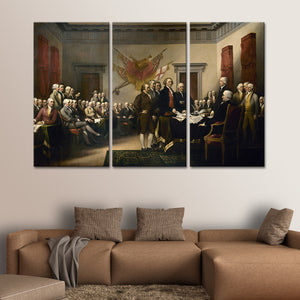 Declaration of Independence Multi Panel Canvas Wall Art - Classic_art