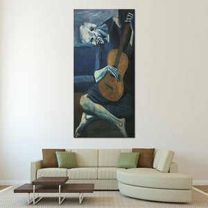 The Old Guitarist Multi Panel Canvas Wall Art - Classic_art