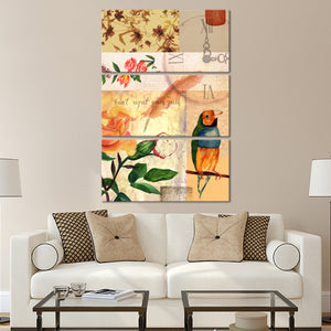 The Time Is Now Multi Panel Canvas Wall Art - Shabby_chic
