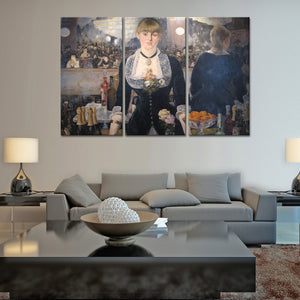 A Bar at the Folies Bergere Multi Panel Canvas Wall Art - Classic_art