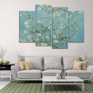 Almond Blossoms Multi Panel Canvas Wall Art - Classic_art