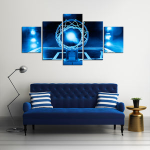 Majestic Basketball Multi Panel Canvas Wall Art - Basketball