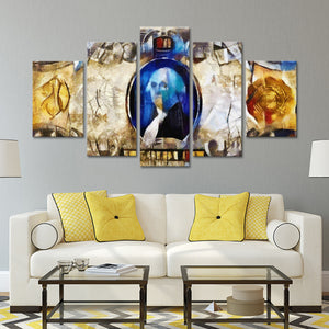 Abstract Money Multi Panel Canvas Wall Art - Abstract