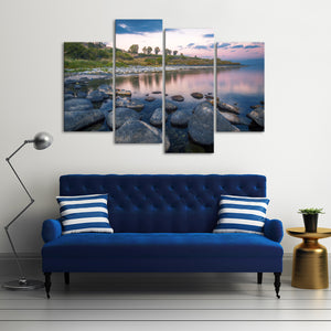 Jordan River Multi Panel Canvas Wall Art - Religion