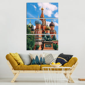 Russian Cathedral Multi Panel Canvas Wall Art - Architecture