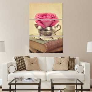 Antique Rose Study Multi Panel Canvas Wall Art - Shabby_chic