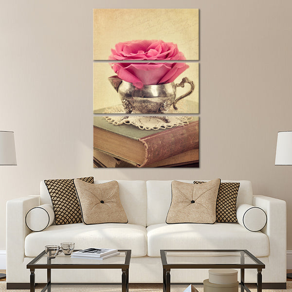 Antique Rose Study Multi Panel Canvas Wall Art