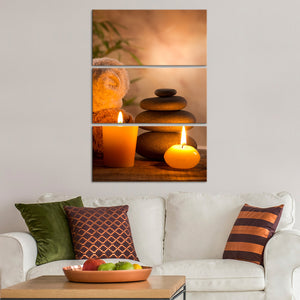 Aromatic Spa Multi Panel Canvas Wall Art - Spa