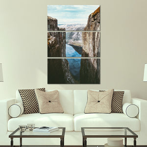 Norwegian Fjord Multi Panel Canvas Wall Art - Nature