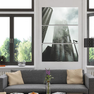 Chicago Skyscraper Multi Panel Canvas Wall Art - Architecture
