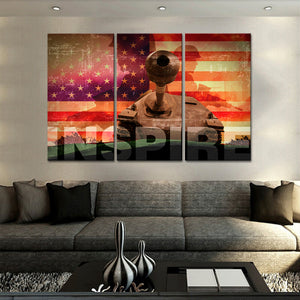 Armored Division Multi Panel Canvas Wall Art - Army