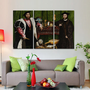 The Ambassadors Multi Panel Canvas Wall Art - Classic_art