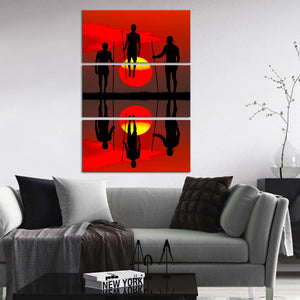 Masai Traditional Ritual Multi Panel Canvas Wall Art - Africa